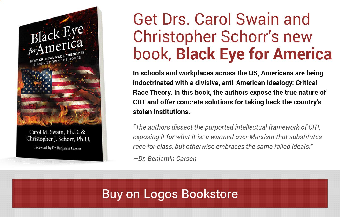 Buy Black Eye for America on Logos bookstore popup